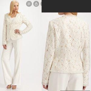 Lafayette 148 lace floral blazer